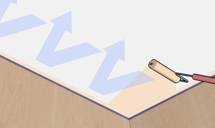 как покрасить потолок правильно