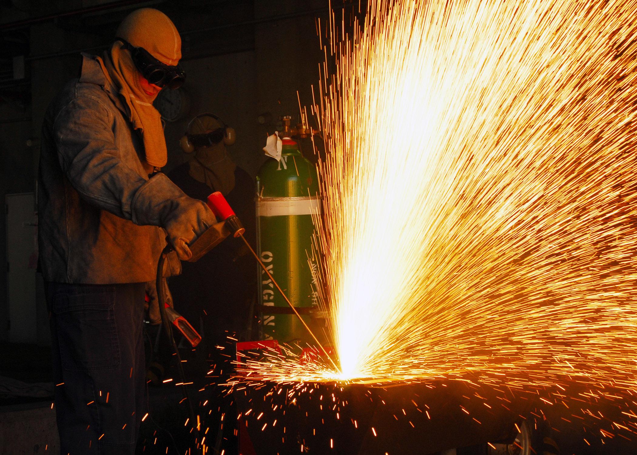 Резка металла с использованием газового резака