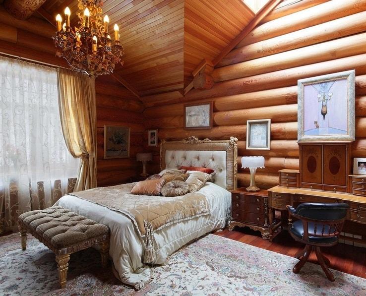 Спальня в русском доме