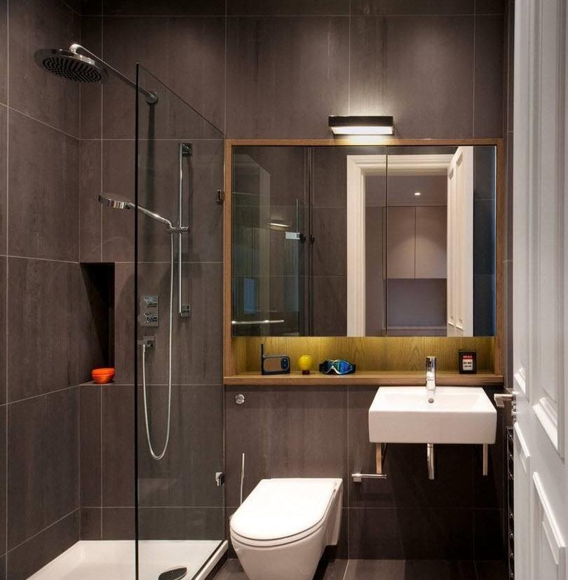 душевой уголок в ванной комнате