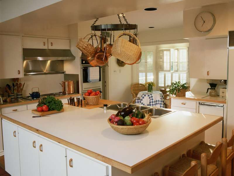 Интерьер кухни с элементами эко стиля