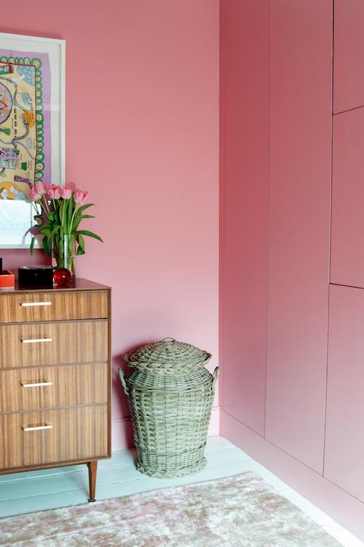 Пыльный розовый в интерьере