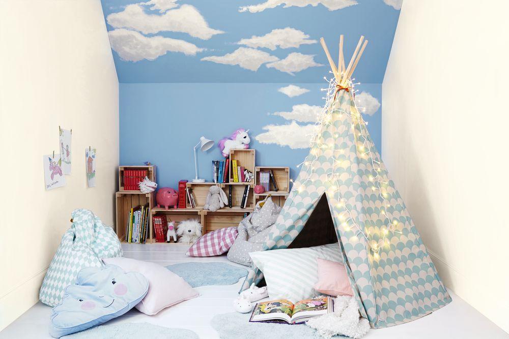 Синий иголубой цвета для детской комнаты