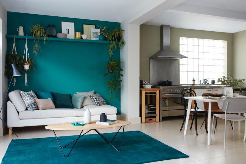 Зеленые оттенки в интерьере квартиры