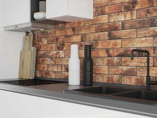Клинкерная плитка в интерьере кухни