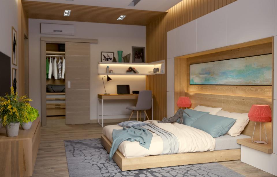 Дизайн спальни в экологическом стиле