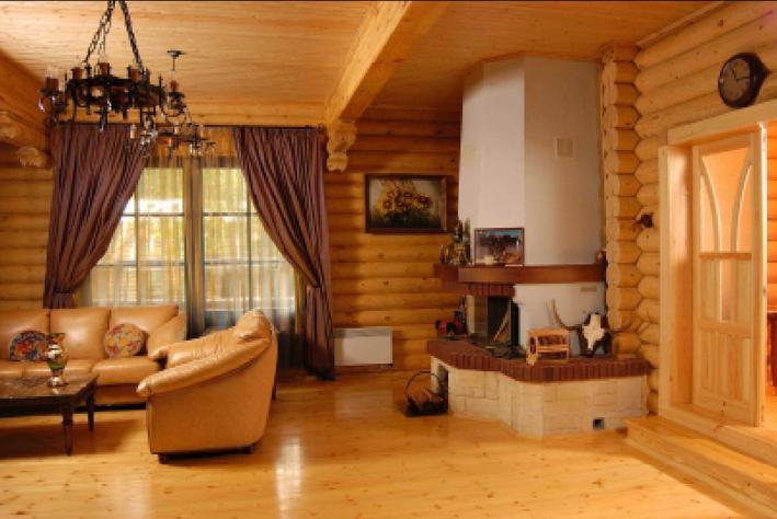 Дизайн для коттеджа из древесины