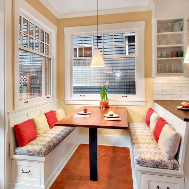 Кухонные диваны с ящиками