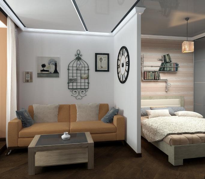 Зонирование в маленькой квартире
