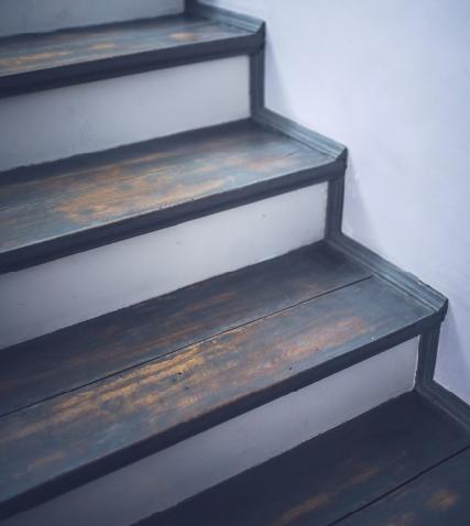 Покраска ступеней