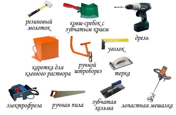 инструменты и материалы для строительства дома