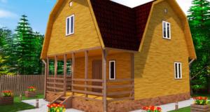 Вариант каркасного дома